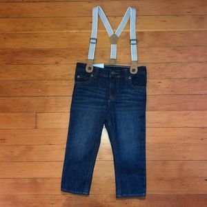 NWT Carter's jeans with suspenders